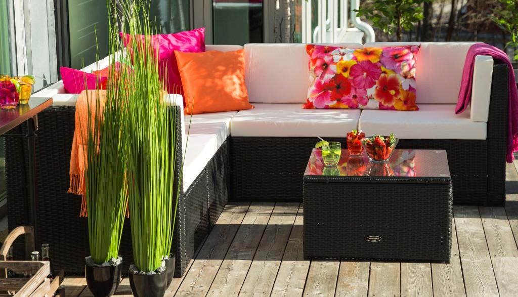 utemöbler soffa 5-sits